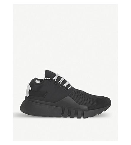 ADIDAS Y3 Y3 Ayero leather and mesh trainers (Black+black+white