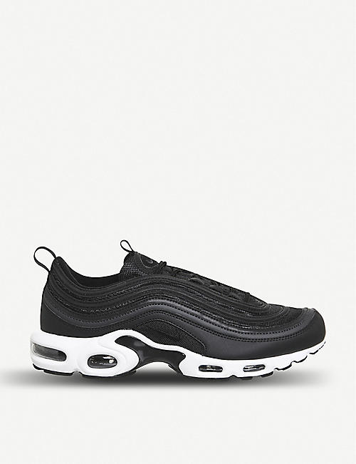 NIKE Air Max Plus 97 leather and mesh trainers