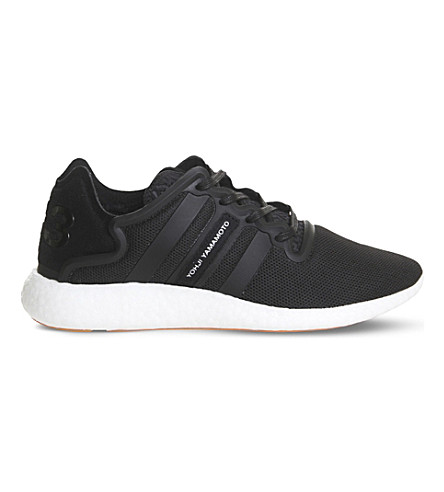 ADIDAS Y3 Yohji Boost mesh run trainers (Black+white+orange