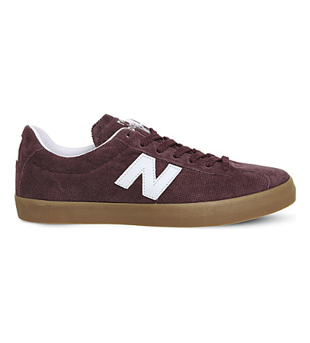 NEW BALANCE ML22 suede trainers (Burgandy+white+mia