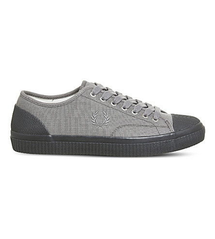FRED PERRY Hughes low-top canvas trainers (Falcon+grey