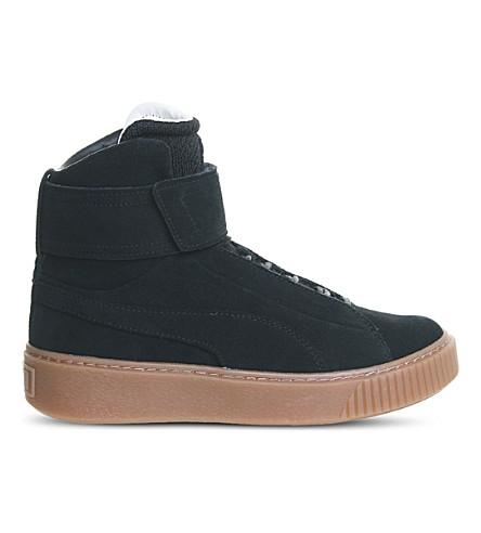 PUMA Platform mid suede trainers (Black+gum