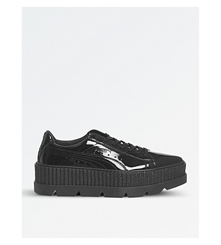PUMA Fenty patent-leather cleated creepers (Black+patent