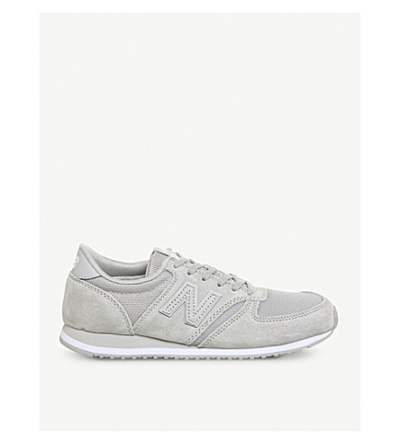 NEW BALANCE WRL 420 low-top suede trainers (Grey