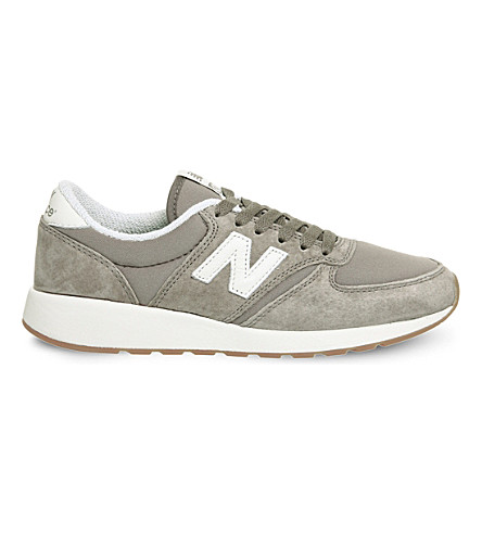 NEW BALANCE 420 suede trainers (Tan+suede+mesh