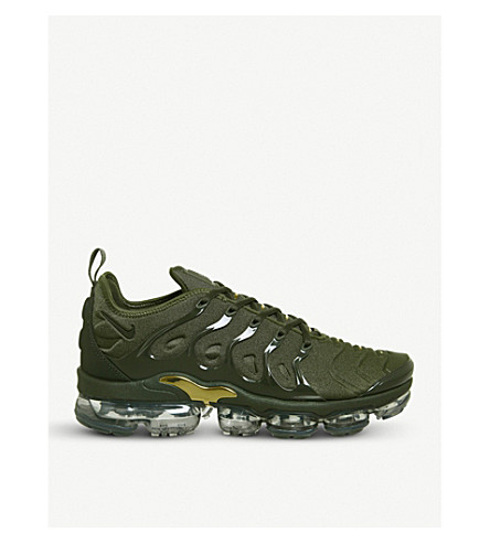 NIKE Air Vapormax plus mesh trainers (Cargo+khaki+clay
