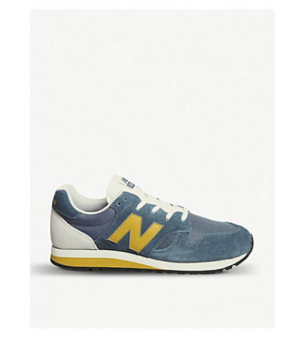 NEW BALANCE U520 suede and mesh trainers (Blue