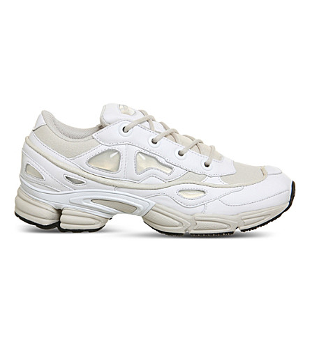 ADIDAS X RAF SIMONS Ozweego III leather and mesh trainers (White+talc
