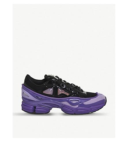 ADIDAS X RAF SIMONS Ozweego III leather and mesh trainers (Purple+black