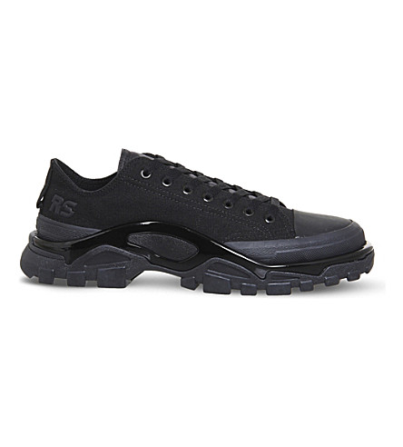 ADIDAS X RAF SIMONS Detroit runner canvas trainers (Black+brown