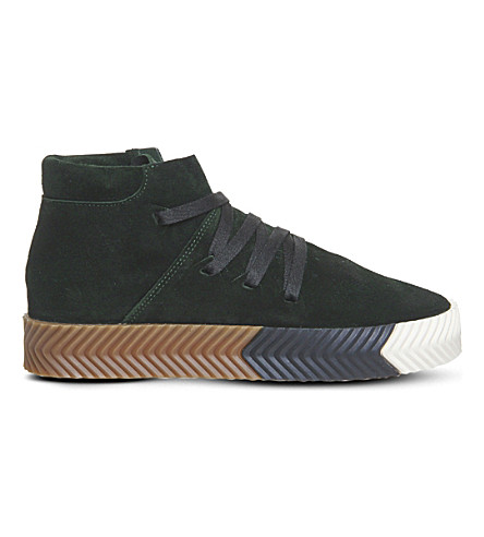 ADIDAS Alexander Wang Skate mid-top suede trainers (Green+night+suede