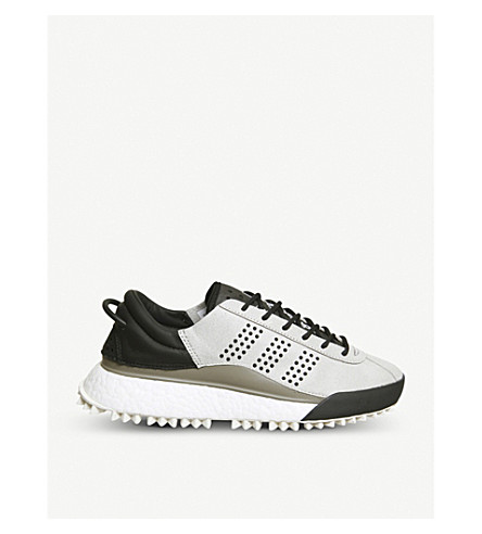 ADIDAS AW Hike Low Boost textile and rubber low-top trainers (Grey+boost