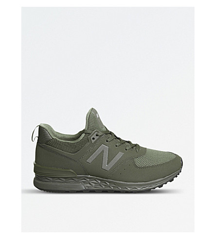 NEW BALANCE 574 Sport mesh trainers (Olive+tech
