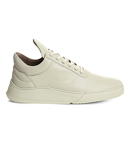 FILLING PIECES Low top split leather trainers (Off+white