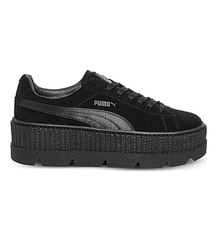 PUMA Fenty suede cleated creepers (Black+suede