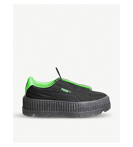 PUMA FentyxPuma woven cleated creepers (Surf+black+green