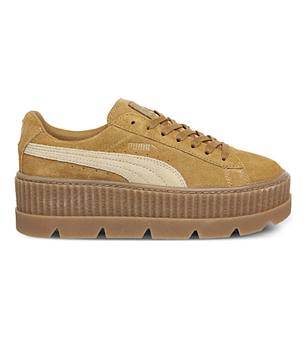 PUMA Fenty suede cleated creepers (Golden+brown+suede
