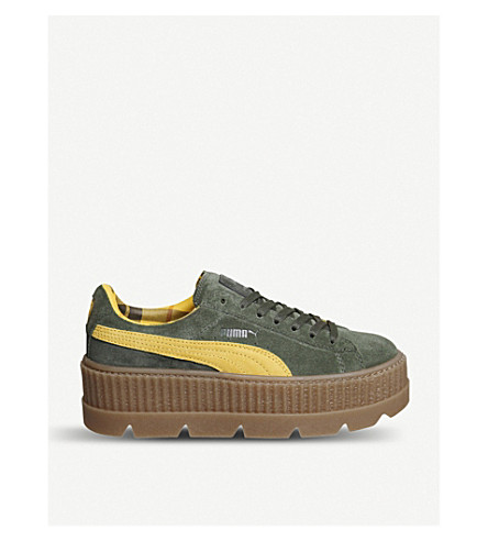 PUMA Fenty suede cleated creepers (Rosin+suede
