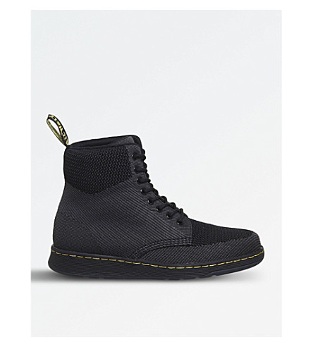 DR. MARTENS Rigal knitted mesh boots (Black+knit