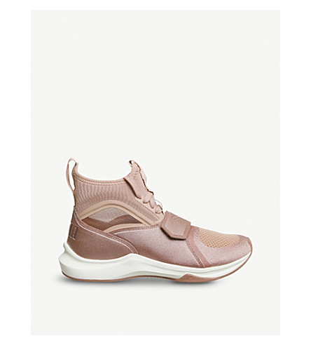 PUMA Phenom neoprene and mesh high-top trainers (Cameo+brown+whisper