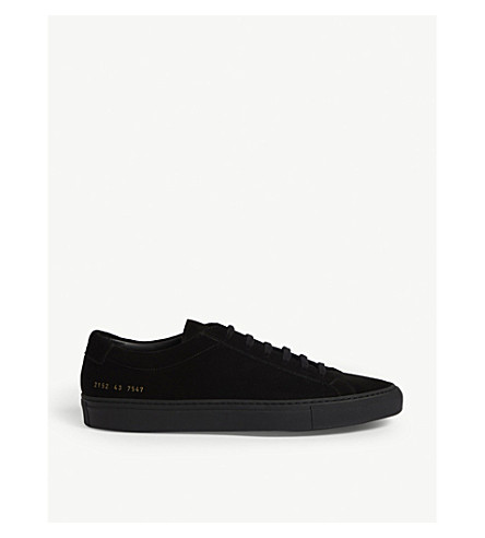COMMON PROJECTS Achilles low-top suede trainers (Black black suede