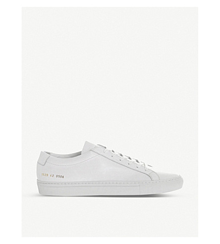 COMMON PROJECTS Achilles leather low-top trainers (White
