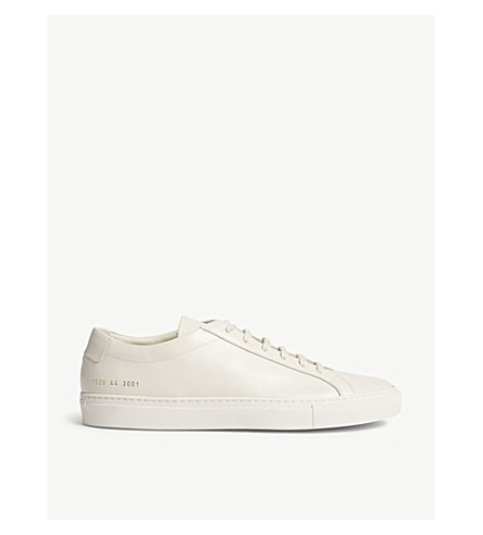 COMMON PROJECTS Achilles low-top leather trainers (Warm+white+leather