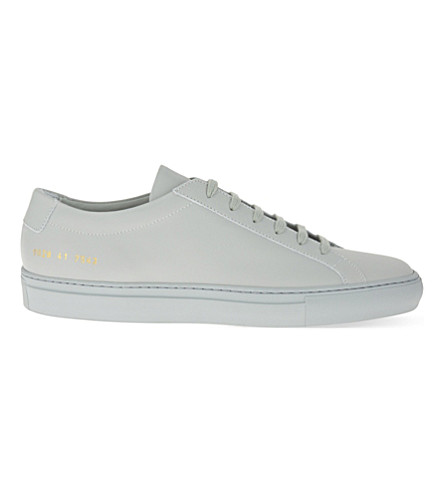 COMMON PROJECTS Original Achilles low-top leather trainers (Light+grey+mono