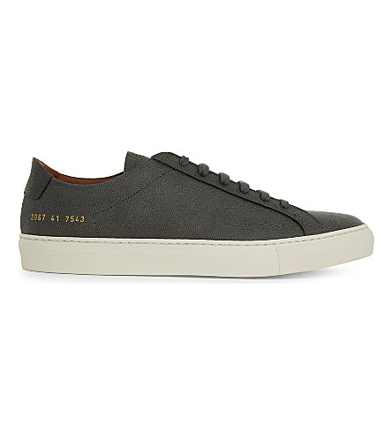 COMMON PROJECTS Original Achilles leather low-top trainers (Grey+premium