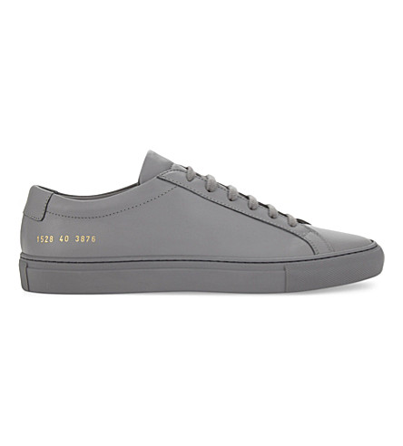 COMMON PROJECTS Original Achilles leather low-top trainers (Medium+grey+mono