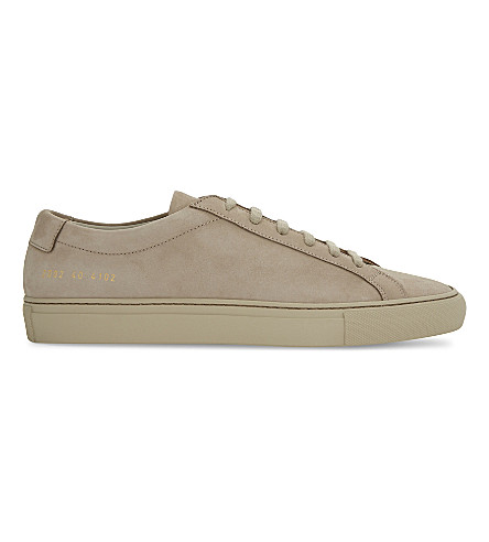 COMMON PROJECTS Achilles suede low-top trainers (Taupe mono nubuck