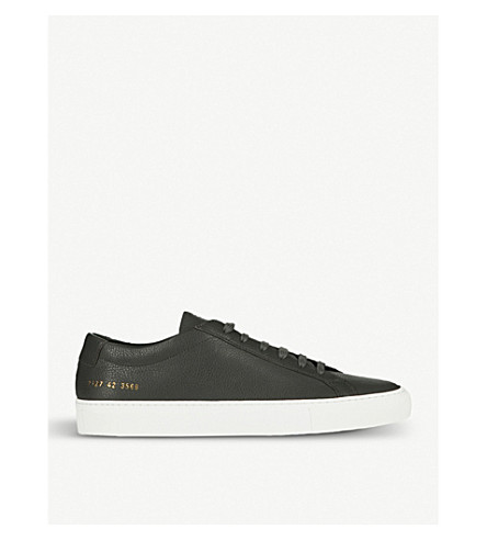 COMMON PROJECTS Achilles low-top grained-leather trainers (Dark+grey+tumble