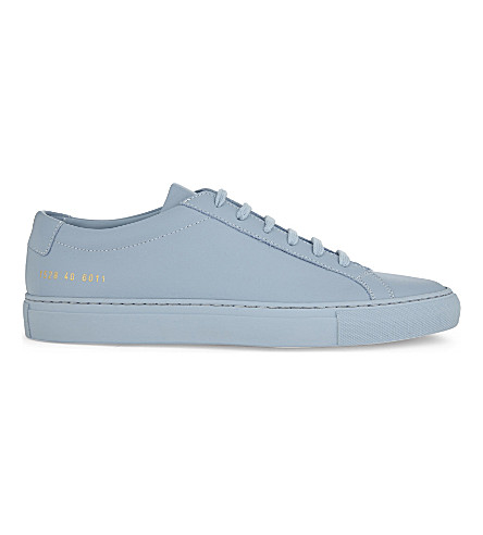 COMMON PROJECTS Original Achilles leather low-top trainers (Powder+blue