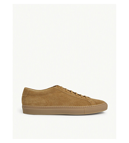 COMMON PROJECTS Achilles low-top suede trainers (Tan+suede