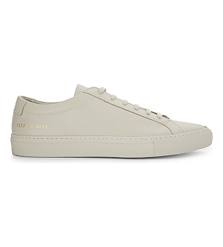 COMMON PROJECTS Original Achilles low-top trainers (Carta+leather+mono