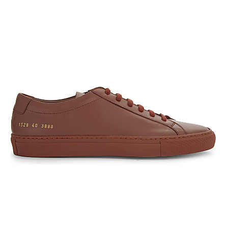 COMMON PROJECTS Original Achilles low-top trainers (Brick+mono+leather