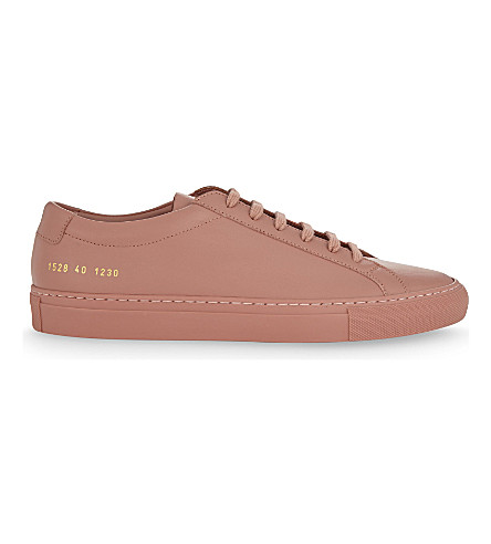 COMMON PROJECTS Achilles low-top leather trainers (Antique+rose