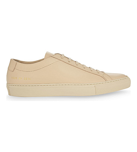 COMMON PROJECTS Original Achilles leather low-top trainers (Natural