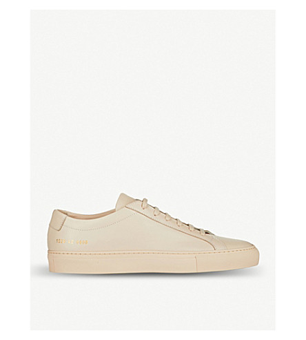 COMMON PROJECTS Achilles leather low-top trainers (Nude+leather