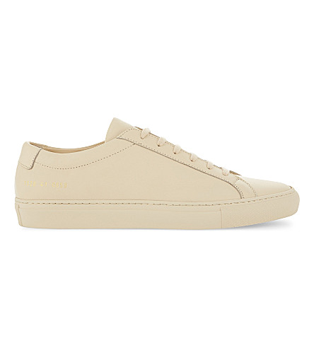 COMMON PROJECTS Original Achilles leather low-top trainers (Nude+mono+leather