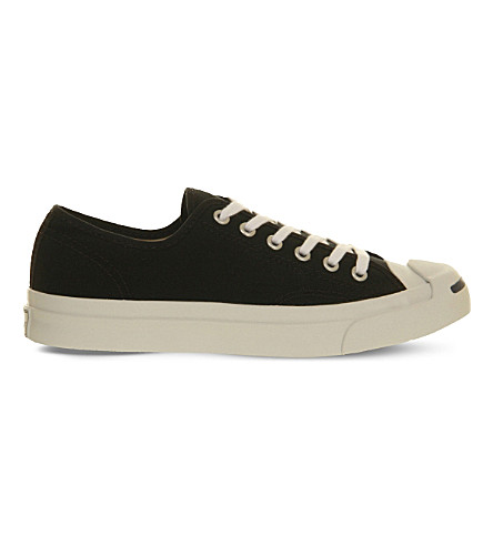 CONVERSE Jack purcell leather trainers (Black+white