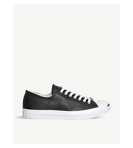 CONVERSE Jack Purcell leather trainers (Black/white-leather