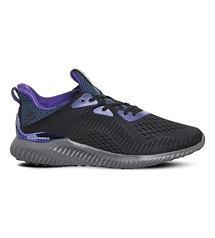 ADIDAS Alphabounce Kolor trainers (Black+purple