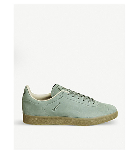 ADIDAS Gazelle Decon suede trainers (Trace+green+gum