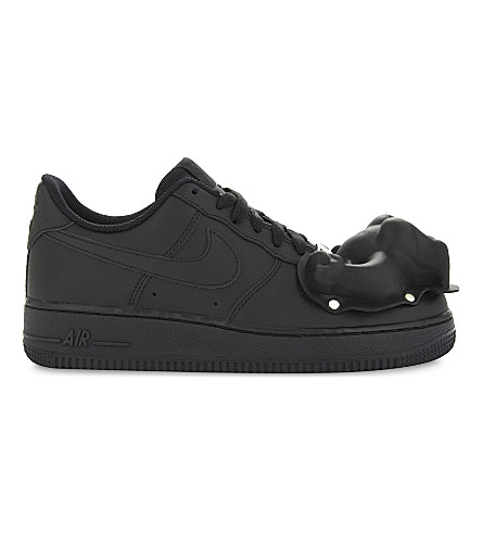 COMME DES GARCONS Dinosaur Air Force 1 low-top leather trainers (Black+scott+hove