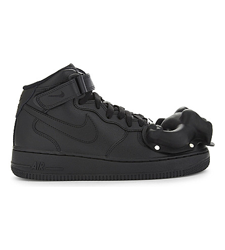 COMME DES GARCONS Dinosaur Air Force 1 leather high-top trainers (Black+scott+hove
