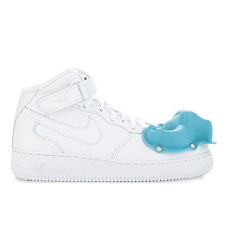COMME DES GARCONS Dinosaur Air Force 1 leather trainers (White+scott+hove