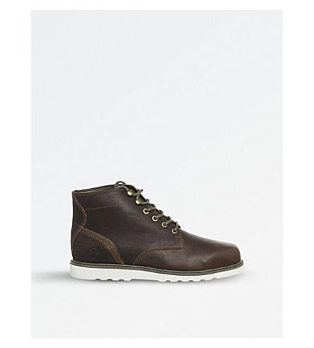 TIMBERLAND 纽马基特 Chukka 皮革靴子 (生皮 + tbl + 四十