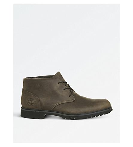 TIMBERLAND Stormbuck Chukka leather desert boots (Dark+brown+poseidon