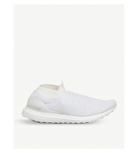 ADIDAS Ultra Boost laceless primeknit trainers (White